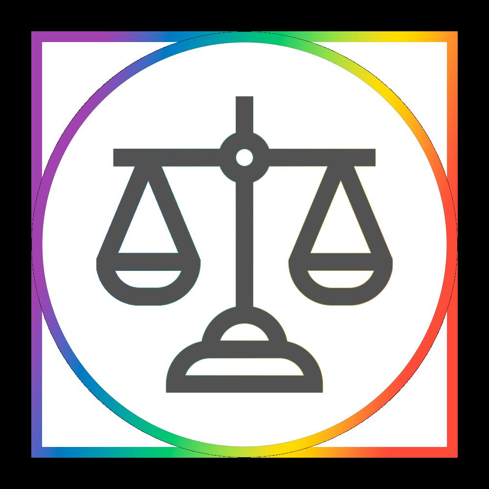 Rainbow Balance Scale