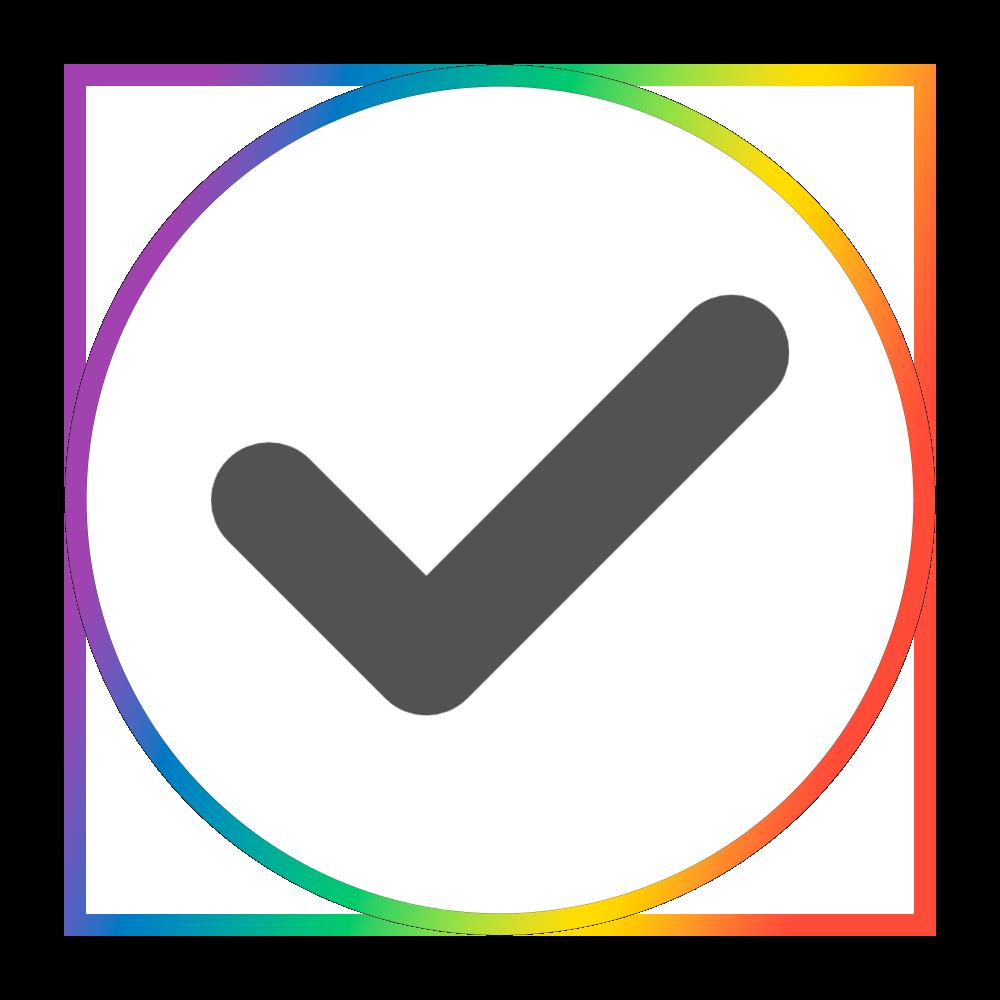 Rainbow Checkmark